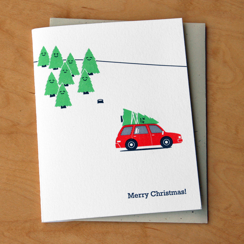 Dead tree | McBitterson\'s - Letterpress Greeting Cards