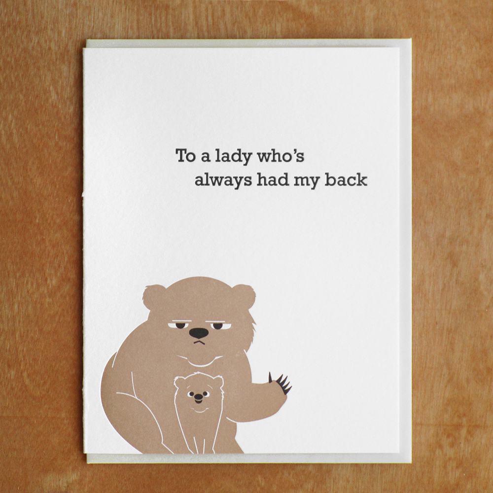 Mama Bear Mcbittersons Letterpress Greeting Cards