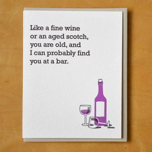 Fine Wine At a Bar
