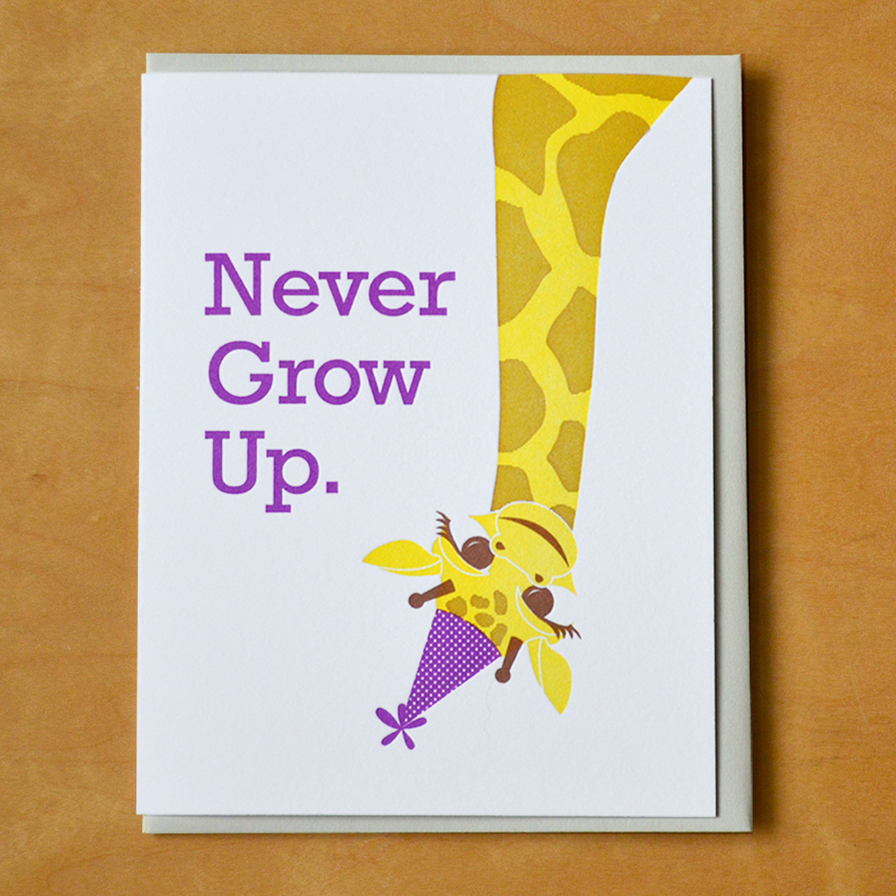 Never Grow Up Giraffe