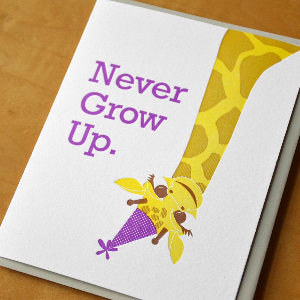 Never Grow Up Giraffe