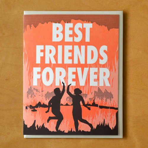 BFF Hell Letterpress Card
