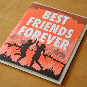 BFF Hell Letterpress Card